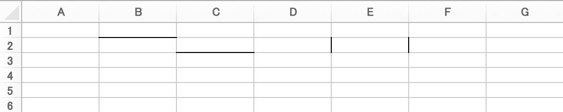 Excelの罫線