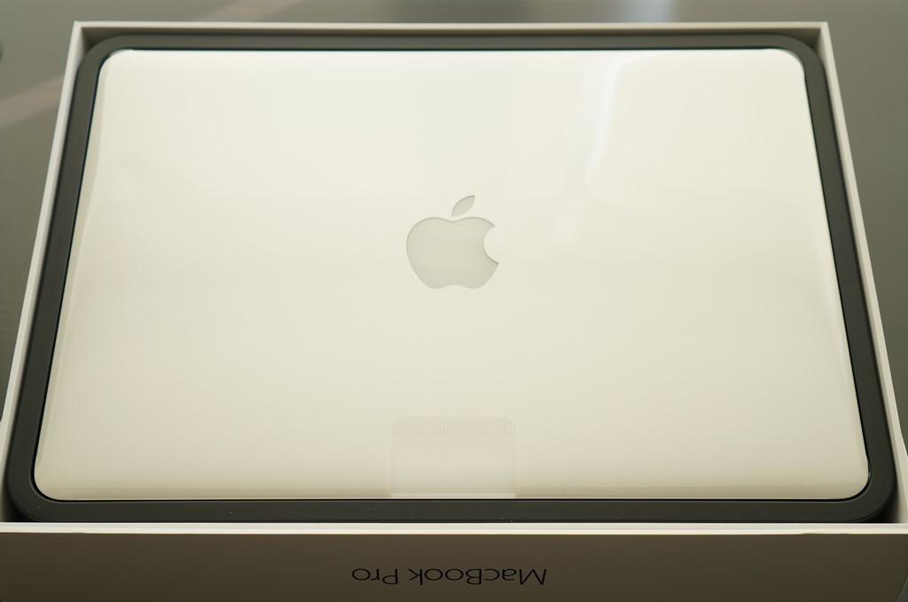 Macの蓋を開けたあと