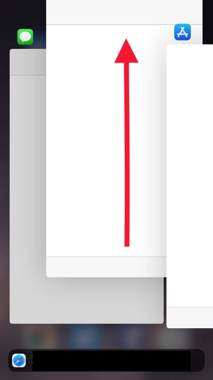 アプリを上にドラッグ