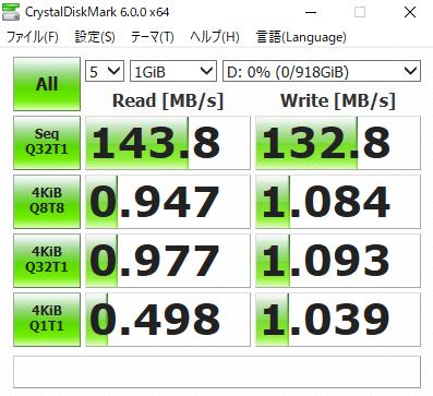 HDDのCrystalDiskMark